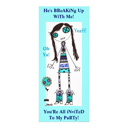 BReaK Up PaRtY Personalized Invites