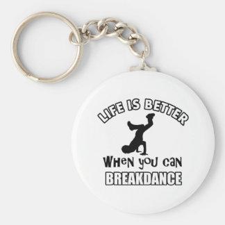 Breakdance dance designs key ring
