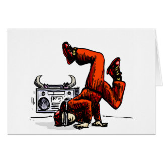 Breakdancer and Box Hip Hop Greeting Card