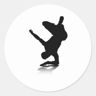 Breakdancer (on elbow) round sticker