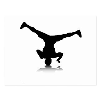 Breakdancer (spin) postcard