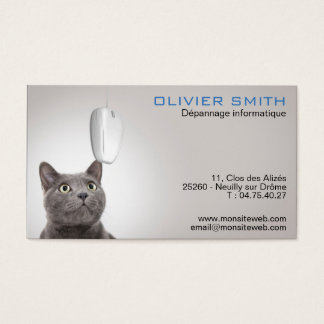 Breakdown service and data-processing council business card