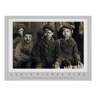 Breaker Boys by Lewis Wickes Hine Poster