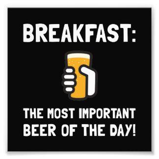 Breakfast Beer Photo Print