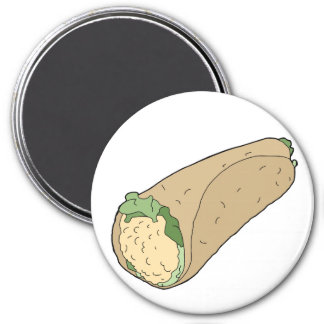 Breakfast Burrito Circle Magnet