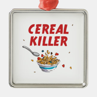 Breakfast Cereal Killer Metal Ornament
