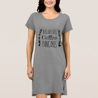 Breakfast Coffee Pancakes Dress