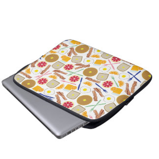Breakfast Foods Electronics Bag Laptop Sleeve