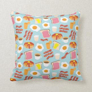 Breakfast Fun Throw Pillow Cushions