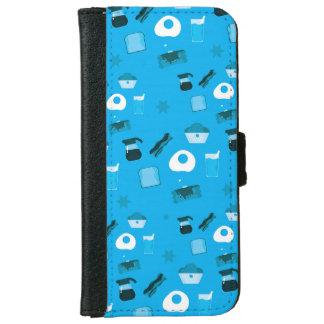 Breakfast in Blue iPhone 6 Wallet Case