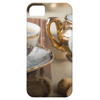 Breakfast in vintage style - espresso and savoiard iPhone 5 case