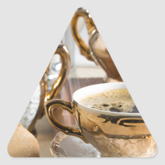 Breakfast in vintage style - espresso and Savoiard Triangle Sticker
