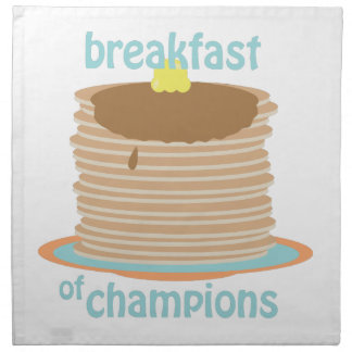 Breakfast Of Champions Cloth Napkin