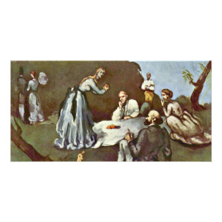 Breakfast Outdoors By Paul Cézanne (Best Quality) Photo Cards