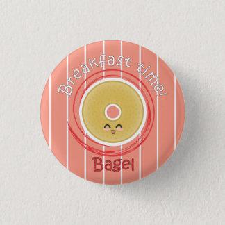 Breakfast Time - Bagel 3 Cm Round Badge