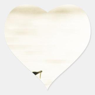 Breakfast Time for Two Cormorants Heart Sticker