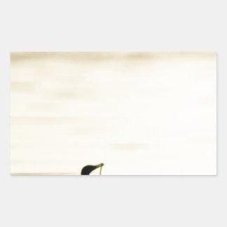 Breakfast Time for Two Cormorants Rectangular Sticker