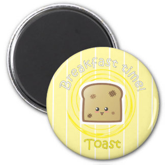 Breakfast Time - Toast 6 Cm Round Magnet