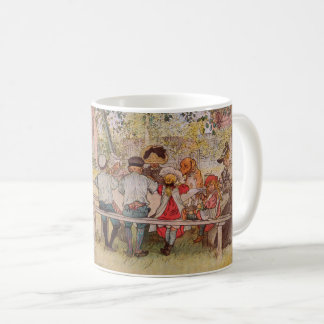 Breakfast Under the Big Birch by Carl Larsson Coffee Mug