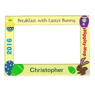 Breakfast with Easter Bunny Magnetic Photo Frames