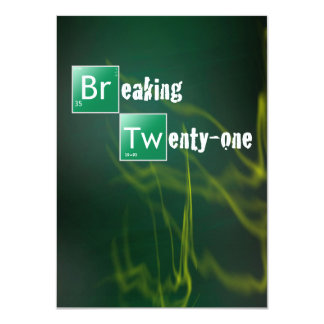 Breaking 21 Twenty First Birthday Party 11 Cm X 16 Cm Invitation Card