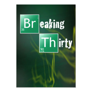 Breaking 30 Thirtieth Birthday Party 13 Cm X 18 Cm Invitation Card