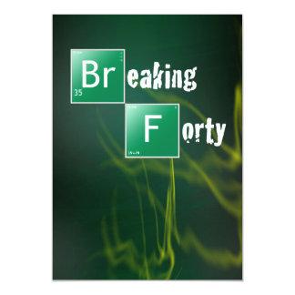 Breaking 40 Birthday Party 13 Cm X 18 Cm Invitation Card