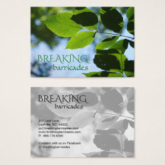 Breaking Barricades Leaf Leaves Tree Landscaping Business Card