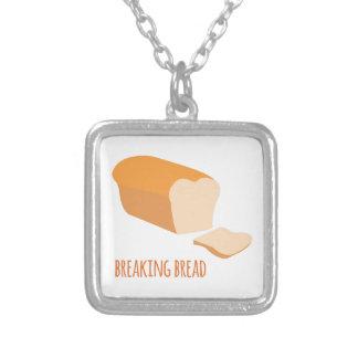 Breaking Bread Square Pendant Necklace