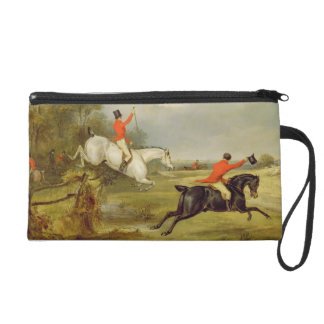 Breaking Cover, Bachelor's Hall (oil on canvas) Wristlet Clutch