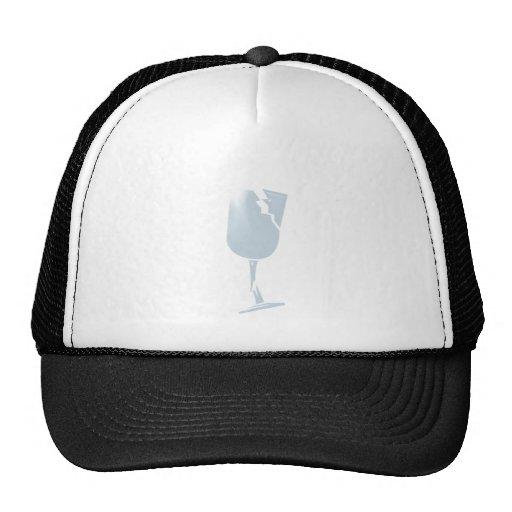 breaking glass fragile hat