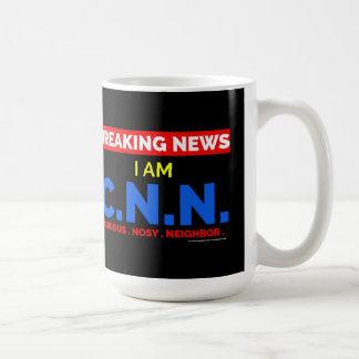 Breaking News: I am Curious Nosy Neighbour Coffee Mug