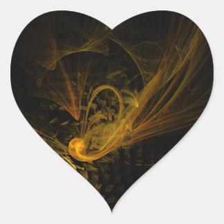 Breaking Point Abstract Art Heart Sticker