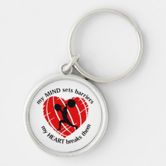 Breaking Sports Barriers Weightlifting Keychain