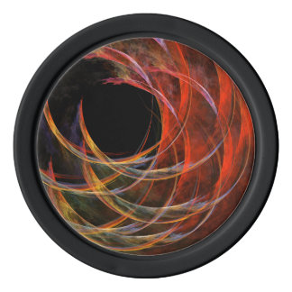 Breaking the Circle Abstract Art Poker Chips