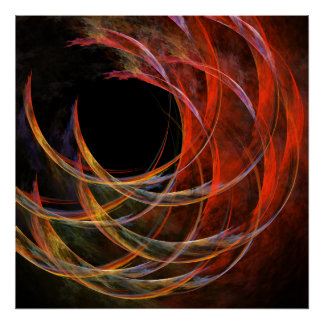 Breaking the Circle Abstract Art Print