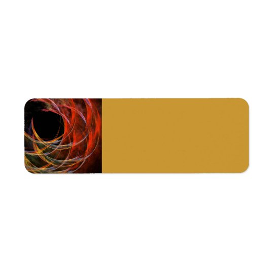 Breaking the Circle Abstract Art Return Address Label