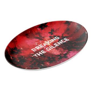 Breaking The Silence 777 Porcelain Serving Platter