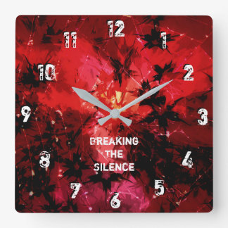 Breaking The Silence 777 Square Wall Clock