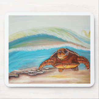 Breaking the Water's Crest Sea Turtle Mouse Pad