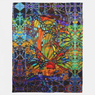 Breaking Thru Butterfly Fleece Blanket