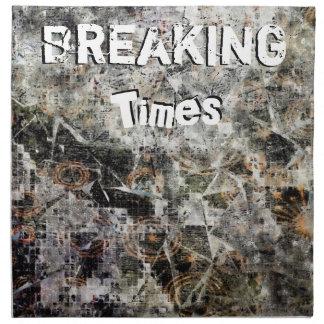Breaking Times Napkin