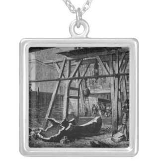 Breaking up Big Ben Silver Plated Necklace
