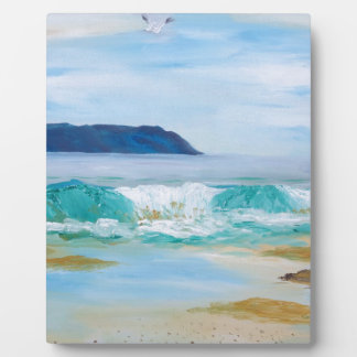 Breaking Wave by KatGibsonArt - love the beach! Plaque