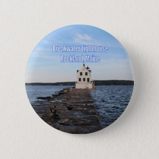 Breakwater Lighthouse 6 Cm Round Badge