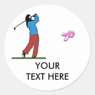 BREASRT CANCER Golf Sticker