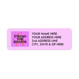 Breast Cancer 13 Year Survivor Return Address Label
