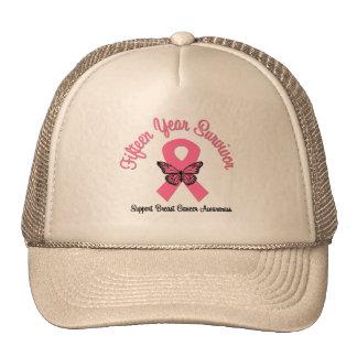 Breast Cancer 15 Year Survivor Hats