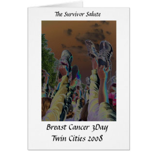 Breast Cancer 3Day note card