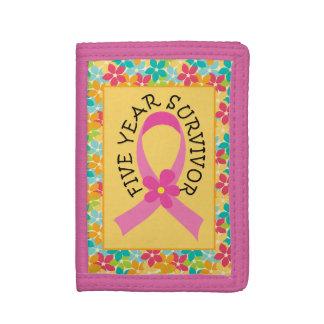 Breast Cancer 5 Year Survivor Ribbon Gift wallet